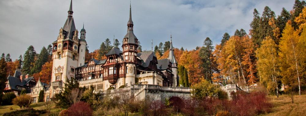 Peles Castle in the Autumn