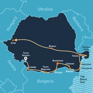 Carte-Tour à vélo au long du Danube bleu